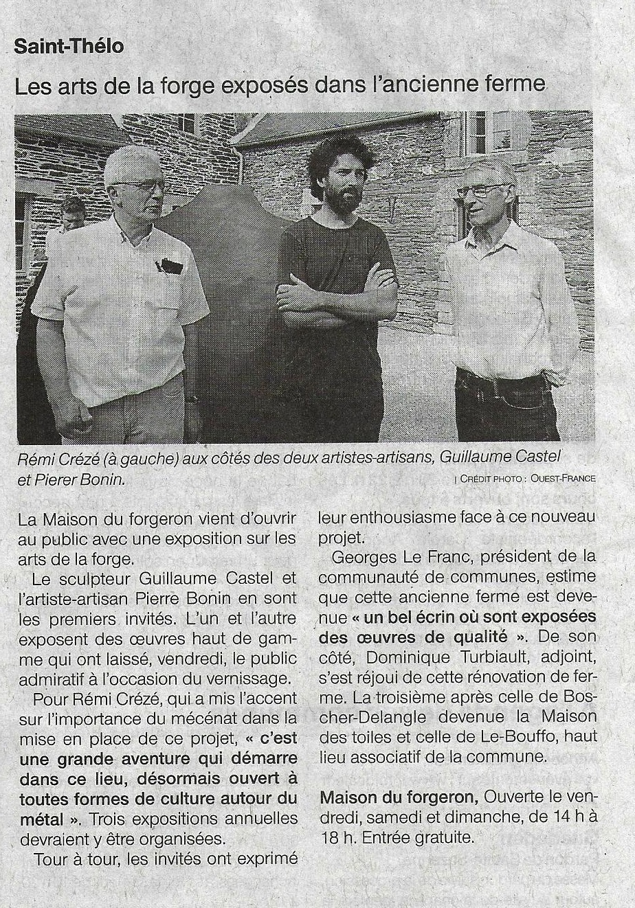Article Ouest France Vernissage